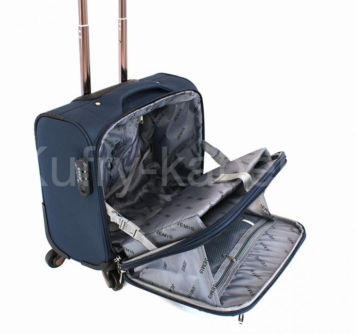 bcef9e2921 Pilotní kufřík na kolečkách rozložený s ukázkou vnitřního členění.