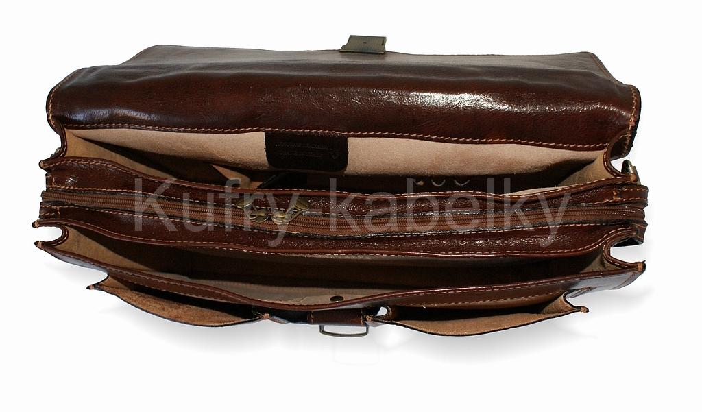 Luxusní kožená taška-aktovka IL GIGLIO - vnitřní členění. ff75f05faa4